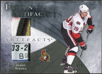 2010/11 Upper Deck Artifacts Frozen Artifacts Patch Tag Black #FAJS Jason Spezza 5/5