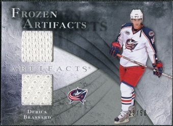 2010/11 Upper Deck Artifacts Frozen Artifacts Silver #FABR Derick Brassard /50
