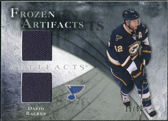2010/11 Upper Deck Artifacts Frozen Artifacts Silver #FADB David Backes /50