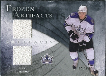 2010/11 Upper Deck Artifacts Frozen Artifacts Silver #FAJJ Jack Johnson 1/50