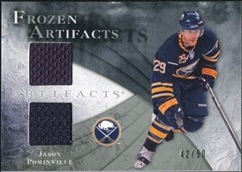 2010/11 Upper Deck Artifacts Frozen Artifacts Silver #FAJP Jason Pominville 42/50
