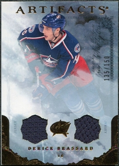 2010/11 Upper Deck Artifacts Jerseys Bronze #34 Derick Brassard /150