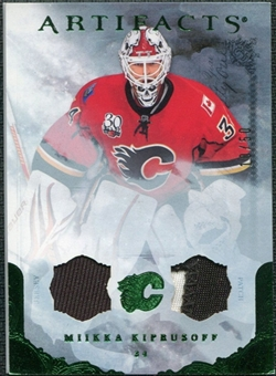 2010/11 Upper Deck Artifacts Jerseys Patches Emerald #8 Miikka Kiprusoff /50