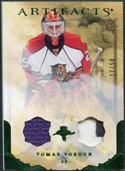 2010/11 Upper Deck Artifacts Jerseys Patches Emerald #19 Tomas Vokoun 17/50