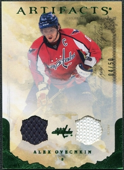 2010/11 Upper Deck Artifacts Jerseys Patches Emerald #23 Alexander Ovechkin 4/50