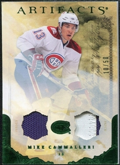 2010/11 Upper Deck Artifacts Jerseys Patches Emerald #24 Mike Cammalleri /50