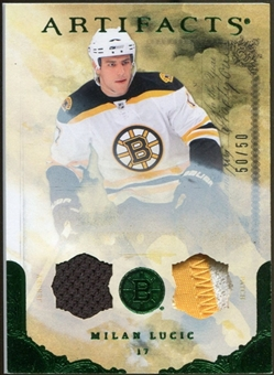 2010/11 Upper Deck Artifacts Jerseys Patches Emerald #45 Milan Lucic 50/50