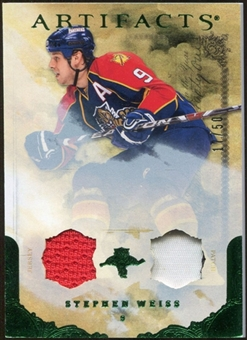 2010/11 Upper Deck Artifacts Jerseys Patches Emerald #55 Stephen Weiss /50
