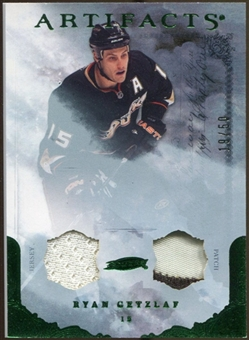 2010/11 Upper Deck Artifacts Jerseys Patches Emerald #67 Ryan Getzlaf /50