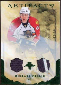 2010/11 Upper Deck Artifacts Jerseys Patches Emerald #70 Michael Frolik /50