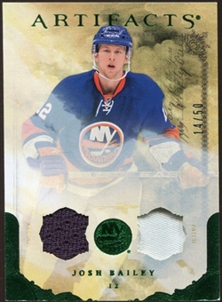 2010/11 Upper Deck Artifacts Jerseys Patches Emerald #94 Josh Bailey /50