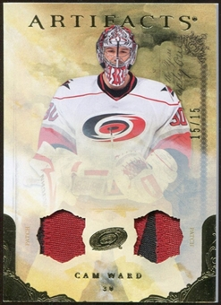 2010/11 Upper Deck Artifacts Jerseys Patches Gold #27 Cam Ward 15/15