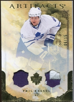 2010/11 Upper Deck Artifacts Jerseys Patches Gold #36 Phil Kessel 6/15