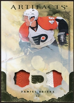 2010/11 Upper Deck Artifacts Jerseys Patches Gold #41 Daniel Briere 1/15
