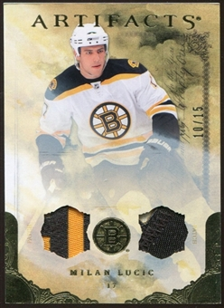 2010/11 Upper Deck Artifacts Jerseys Patches Gold #45 Milan Lucic 10/15
