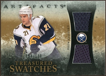 2010/11 Upper Deck Artifacts Treasured Swatches #TSDS Drew Stafford /150