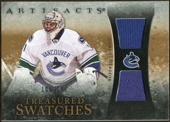 2010/11 Upper Deck Artifacts Treasured Swatches #TSRL Roberto Luongo /150