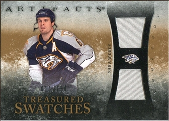 2010/11 Upper Deck Artifacts Treasured Swatches #TSSW Shea Weber /150
