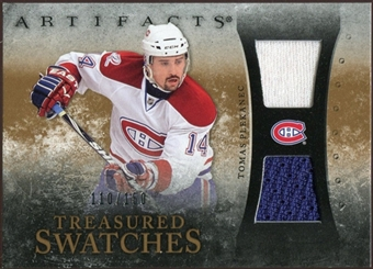 2010/11 Upper Deck Artifacts Treasured Swatches #TSTP Tomas Plekanec /150