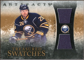 2010/11 Upper Deck Artifacts Treasured Swatches #TSTV Thomas Vanek /150