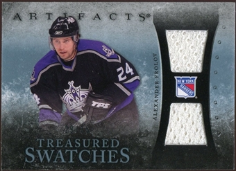 2010/11 Upper Deck Artifacts Treasured Swatches Blue #TSAF Alexander Frolov /35