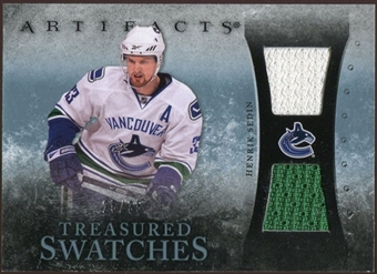 2010/11 Upper Deck Artifacts Treasured Swatches Blue #TSHS Henrik Sedin 25/35