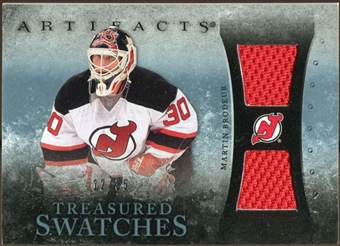 2010/11 Upper Deck Artifacts Treasured Swatches Blue #TSMB Martin Brodeur /35
