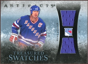 2010/11 Upper Deck Artifacts Treasured Swatches Blue #TSMM Mark Messier /35