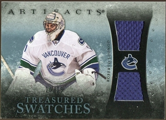 2010/11 Upper Deck Artifacts Treasured Swatches Blue #TSRL Roberto Luongo /35