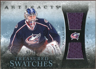 2010/11 Upper Deck Artifacts Treasured Swatches Blue #TSSM Steve Mason /35