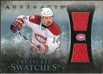 2010/11 Upper Deck Artifacts Treasured Swatches Blue #TSTP Tomas Plekanec 18/35