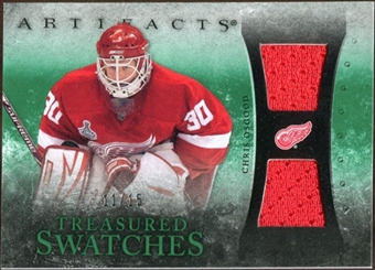 2010/11 Upper Deck Artifacts Treasured Swatches Emerald #TSCO Chris Osgood 11/15