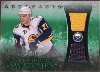 2010/11 Upper Deck Artifacts Treasured Swatches Emerald #TSDS Drew Stafford 11/15