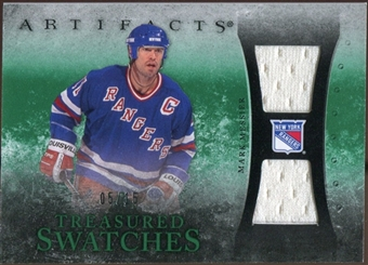 2010/11 Upper Deck Artifacts Treasured Swatches Emerald #TSMM Mark Messier 5/15