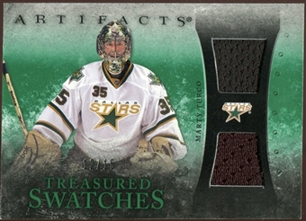 2010/11 Upper Deck Artifacts Treasured Swatches Emerald #TSMT Marty Turco 12/15