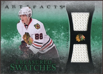 2010/11 Upper Deck Artifacts Treasured Swatches Emerald #TSPK Patrick Kane /15