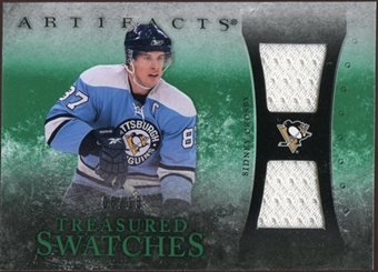 2010/11 Upper Deck Artifacts Treasured Swatches Emerald #TSSC Sidney Crosby 6/15