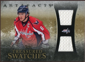 2010/11 Upper Deck Artifacts Treasured Swatches Gold #TSAO Alexander Ovechkin 5/5