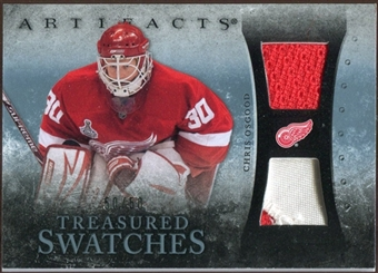 2010/11 Upper Deck Artifacts Treasured Swatches Jersey Patch Blue #TSCO Chris Osgood 50/50