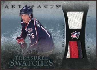 2010/11 Upper Deck Artifacts Treasured Swatches Jersey Patch Blue #TSDB Derick Brassard 47/50