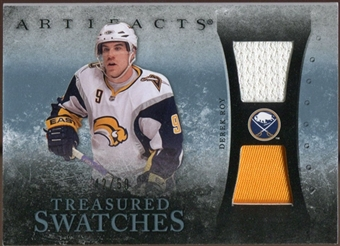 2010/11 Upper Deck Artifacts Treasured Swatches Jersey Patch Blue #TSDR Derek Roy /50