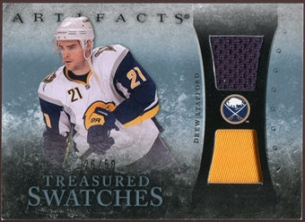2010/11 Upper Deck Artifacts Treasured Swatches Jersey Patch Blue #TSDS Drew Stafford 26/50