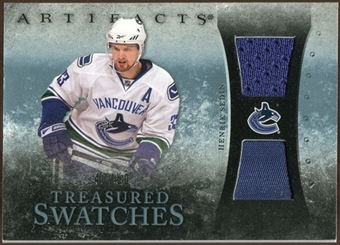 2010/11 Upper Deck Artifacts Treasured Swatches Jersey Patch Blue #TSHS Henrik Sedin /50
