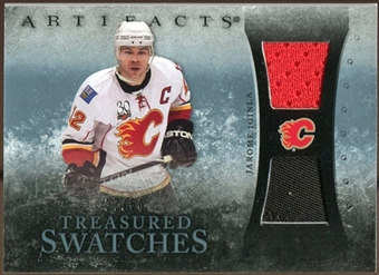 2010/11 Upper Deck Artifacts Treasured Swatches Jersey Patch Blue #TSJI Jarome Iginla /50