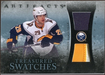 2010/11 Upper Deck Artifacts Treasured Swatches Jersey Patch Blue #TSJP Jason Pominville /50
