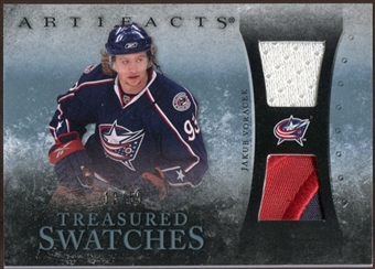 2010/11 Upper Deck Artifacts Treasured Swatches Jersey Patch Blue #TSJV Jakub Voracek /50