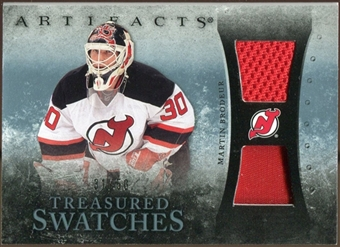2010/11 Upper Deck Artifacts Treasured Swatches Jersey Patch Blue #TSMB Martin Brodeur /50