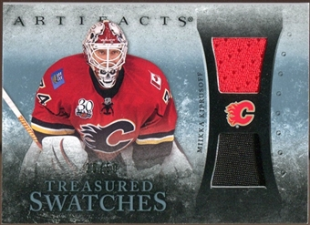 2010/11 Upper Deck Artifacts Treasured Swatches Jersey Patch Blue #TSMK Miikka Kiprusoff /50