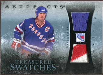 2010/11 Upper Deck Artifacts Treasured Swatches Jersey Patch Blue #TSMM Mark Messier 4/50