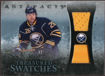2010/11 Upper Deck Artifacts Treasured Swatches Jersey Patch Blue #TSTV Thomas Vanek /50